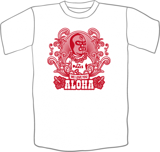 Tshirt ALOHA Blanc